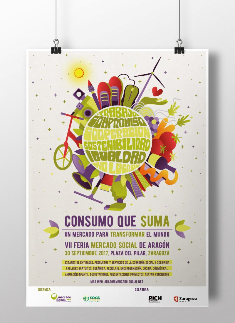 VII Feria Mercado Social y El Salto | Diseño Campaña Gráfica