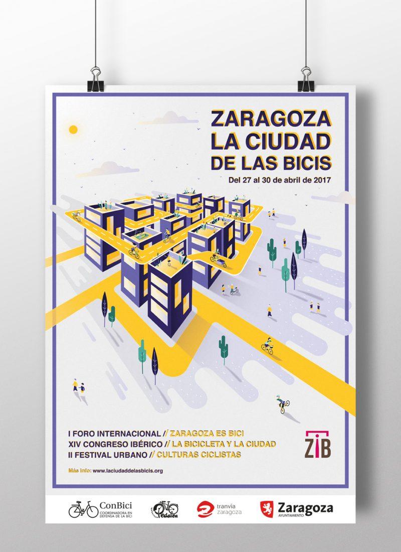 Zaragoza, La ciudad de las bicis | Diseño gráfico