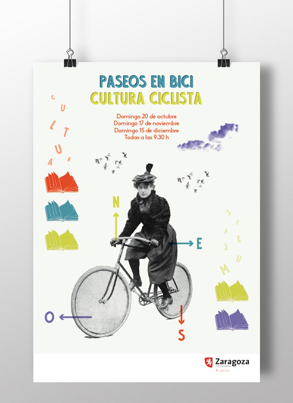 Paseos en bici de La Casa de La Mujer | Diseño gráfico