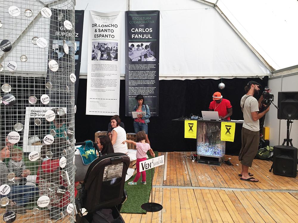 Diseño de la carpa de acción contra el hambre en Pirineos Sur