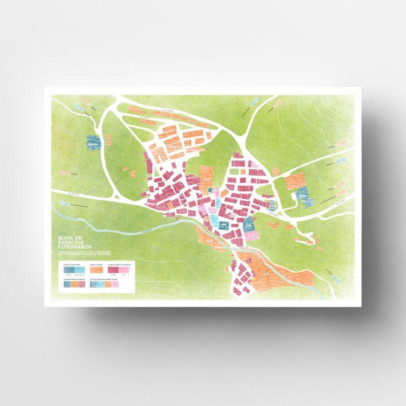 Guadalaviar, Cartografía de la vida cotidiana de un pequeño pueblo de montaña | Diseño gráfico