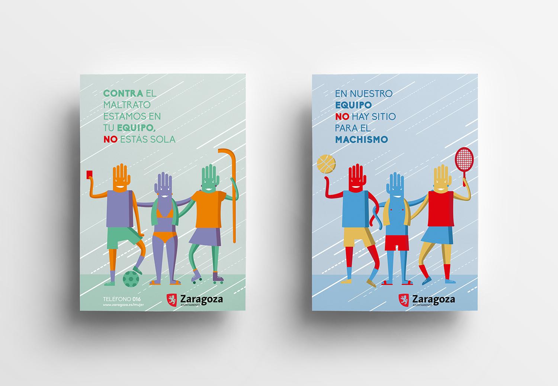Campaña de sensibilización sobre violencias machistas en el deporte | Diseño gráfico