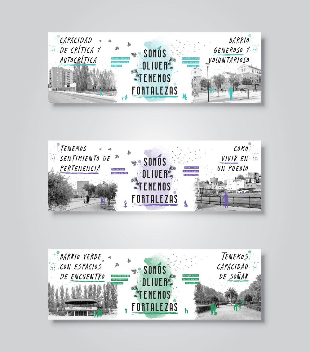 Diseño campaña gráfica barrio Oliver Zaragoza