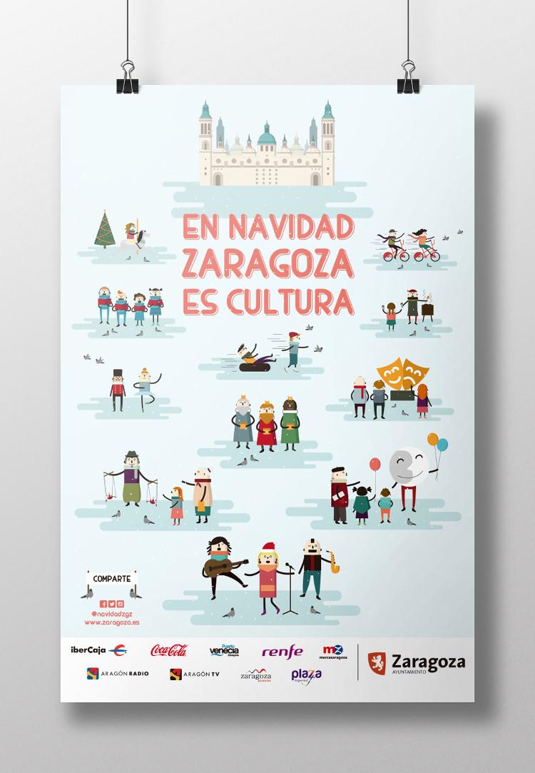 Imagen gráfica navidad 2015 Zaragoza