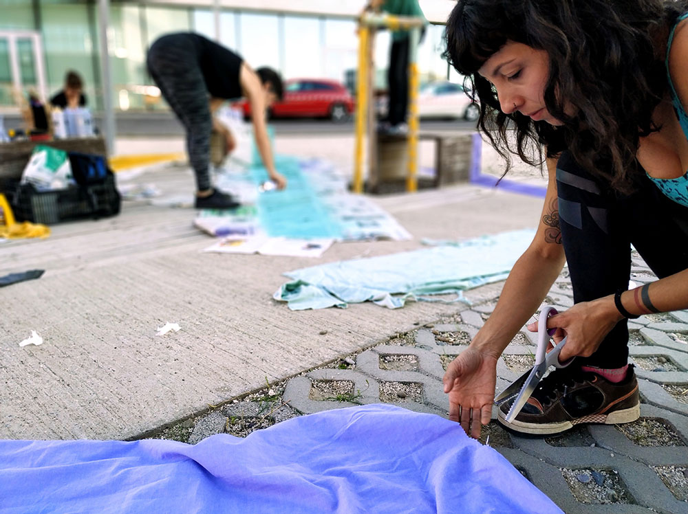 Participación para transformar el espacio público mediante reciclaje en Etopia Zaragoza