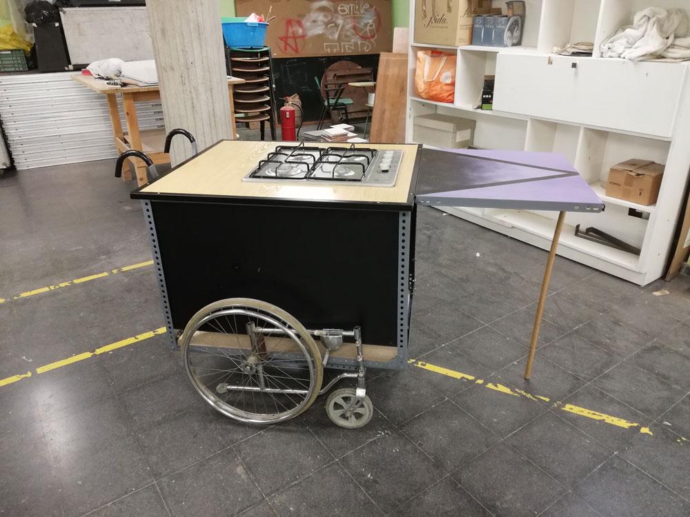 Cocina comunitaria portátil | Autoconstrucción con materiales recuperados