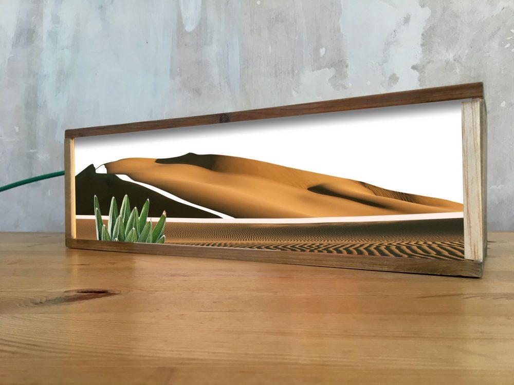 Lámparas creadas a mano a partir de cajas de vino de madera