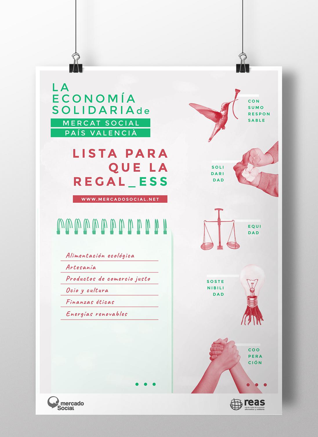 Campaña diseño gráfico compra responsable en Navidad