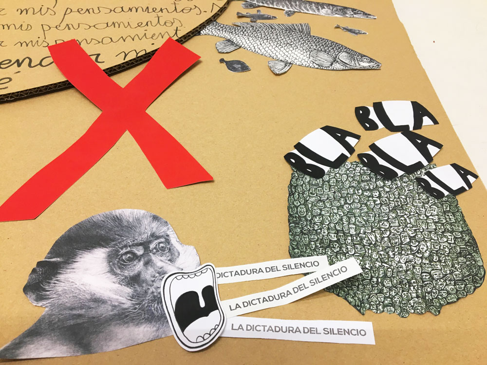 taller collage recreando estudio creativo reflexion colectivo