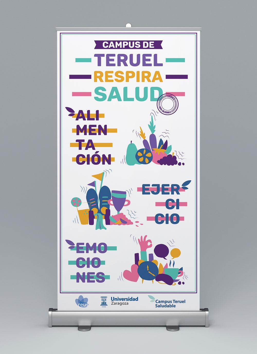 Diseño gráfico para la Universidad de Zaragoza por unos hábitos más sanos